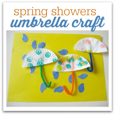 Spring Showers Umbrella Craft