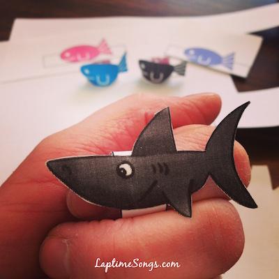5 Little Fish Finger Puppets