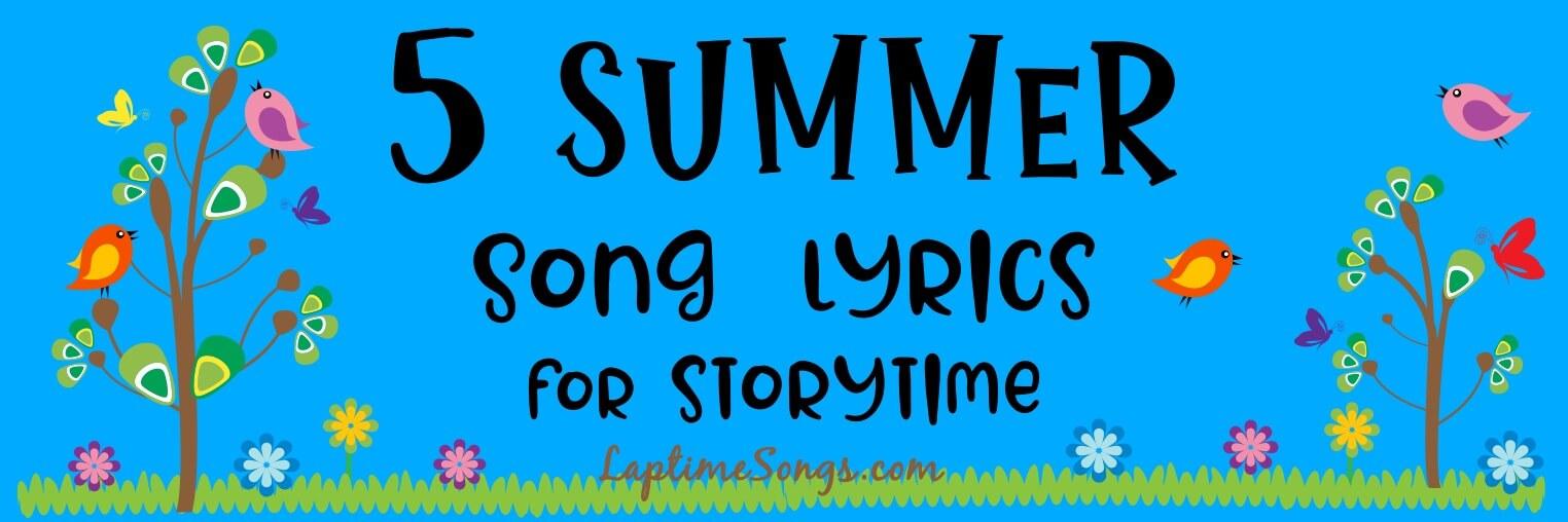 5 summer song lyrics for storytime